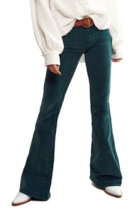 Womens-Free-People-Pull-On-Flare-Corduroy-Pants-Size-24-Green-2-scaled